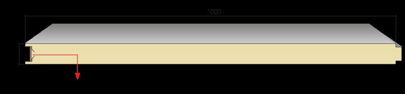 GP ISOWALL 1 800x187 1 - TẤM VÁCH TƯỜNG CÁCH NHIỆT / GP ISOWALL