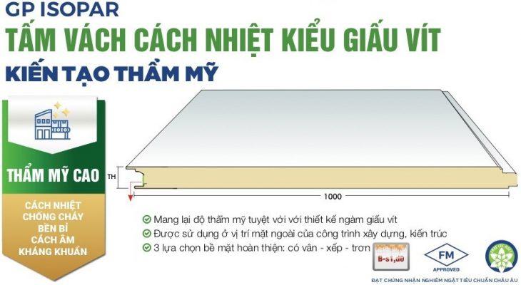 tam panel pir chong chay cach nhiet sptbuilding 2b 730x400 - PANEL PIR - TẤM PANEL CÁCH NHIỆT CHỐNG CHÁY THƯƠNG HIỆU GREENPAN