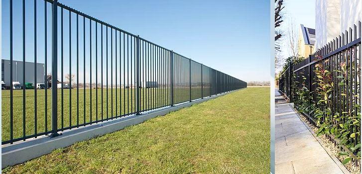 Hàng rào ống đơn giản và sang trọng
